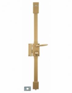 Serrure en applique bronze CR Ø 23 6 goup. à fouillot 75 x 130 mm gauche 4 clés 00750120