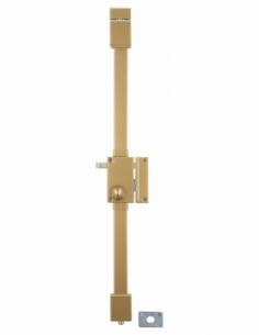 Serrure en applique bronze CR Ø 23 6 goup. à tirage 75 x 130 mm droite 4 clés 00850010