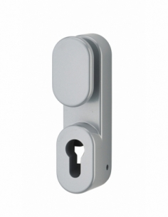 BOUTON DE MANŒUVRE EXTERIEUR laqué gris - sans cylindre profilé 00009506