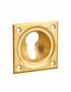 ENTREE à cuvette laiton 60 x 60 mm trou de cylindre profilé 00141264