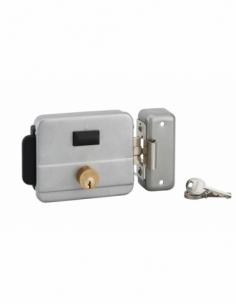 Serrure en applique de sûreté à bouton poussoir et cylindre 50 mm réversible 3 clés 00005006