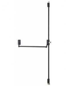 Serrure en applique ANTIPANIQUE 2/3 points haut et bas réversible laqué noir porte maxi 1150 mm 00009531