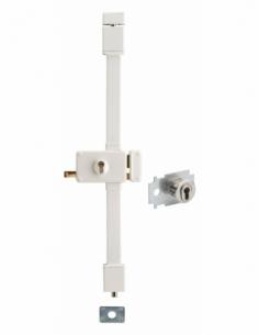 Serrure en applique HORGA blanche CP TRANSIT 2 à tirage 88 x 140 mm drte 4 clés pour porte de 45 mm maxi 00065016
