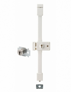 Serrure en applique HORGA blanche CP TRANSIT 2 à fouillot 88 x 140 mm gche 4 clés pour porte de 45 mm maxi 00065126