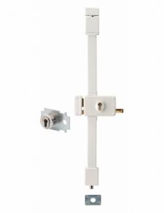 Serrure en applique HORGA blanche CP TRANSIT 2 à tirage 88 x 140 mm gche 4 clés pour porte de 45 mm maxi 00065026