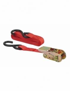 Sangle à cliquet 25mm x 4,50m crochet S - rouge 00290609