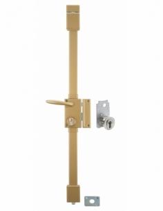 Serrure en applique TARGA bronze CP TRANSIT 2 porte ép.50 à fouillot 75 x 130 mm drte 4 clés 00053111