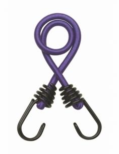 Lot de 2 sandows Ø8mm x 45cm à crochet - violet 00290620