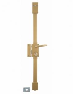 Serrure en applique TARGA bronze CP TRANSIT 2 à fouillot 75 x 130 mm gche 4 clés 00752320