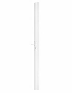 BOIT. Serrure en applique réver. avec gâche têtière 90 mm pour porte haut 2040 mm maxi, blanc 00079073
