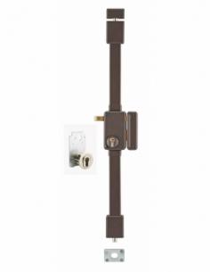 Serrure en applique BELUGA marron CP TRANSIT 2 à tirage 75 x 130 mm drte 4 clés 00755010