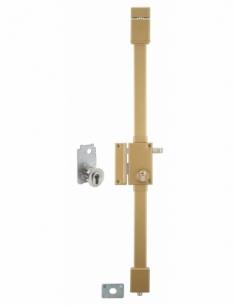 Serrure en applique TARGA bronze CP TRANSIT 2 à tirage 75 x 130 mm gche 4 clés 00753020
