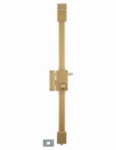 Serrure en applique bronze CR Ø 23 6 goup. à tirage 75 x 130 mm gauche 4 clés 00750020