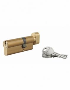 Cylindre de Serrure à bouton 30 x 50 mm 3 clés laiton - HG 5 00073050