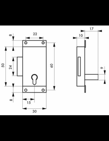 B /& T T/ôle daluminium lamin/ée Argent anodis/é /Épaisseur 1/mm T/ôle daluminium anodis/é E6//EV1/unilat/éralement avec film de protection d/écran en D/écoupe
