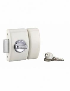 Verrou de porte d'entrée DESIGN 5 goup. 50 mm blanc 3 clés 00371527