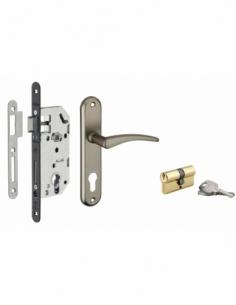 Garniture MONOMAX NF axe 40 à cylindre 3 clés V/BR + ensemble VESTA 00022187