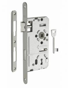Serrure à encastrer pdt 1/2 T entr'axes 72 mm drte 1 clé 00955002