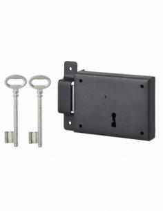 Serrure en applique pêne dt 110 x 80 mm gauche 2 clés 00391127