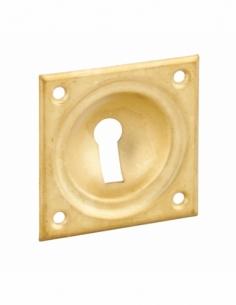 ENTREE à cuvette laiton 60 x 60 mm pour Serrure en applique trou de clé 00141262