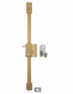 Serrure en applique TARGA bronze CP TRANSIT 2 à tirage 75 x 130 mm drte 4 clés 00053012