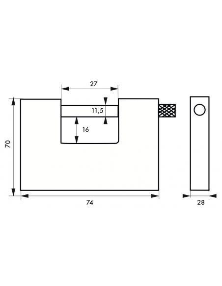 Cadenas THOR 74 mm 00289740