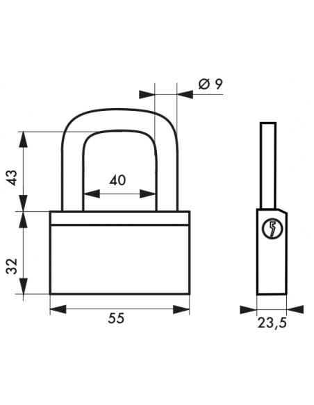 Cadenas NAUTIC 55 mm 00168551