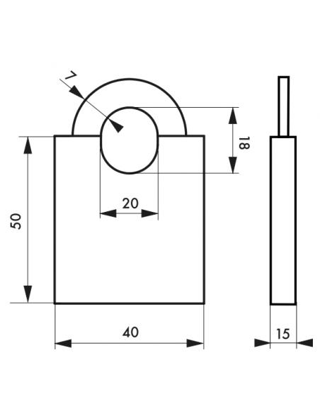 Cadenas MARINOX 40 mm 00096402