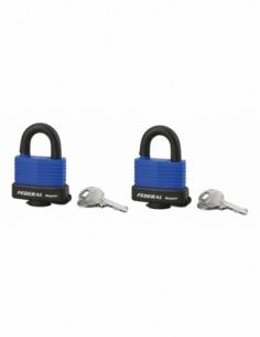 Jeu de 2 cadenas SEA LINE 40 mm s'entrouvrant étanche 4 clés 00200900