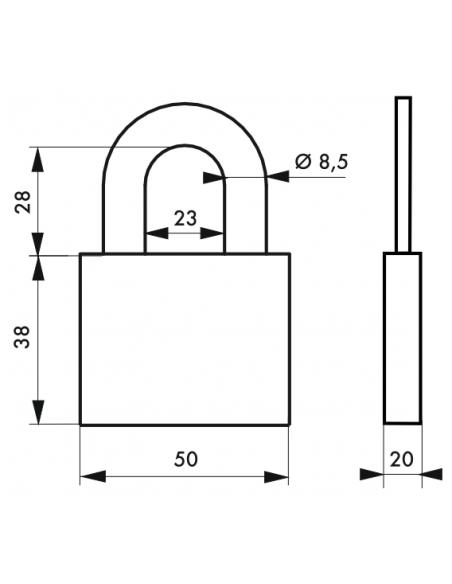 Cadenas DISK 50 mm 00895516