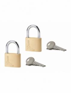 Jeu de 2 Cadenas Type 1 40 mm sentrouvrant 4 clés 00980044