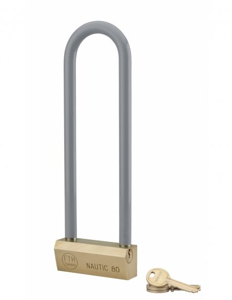 Cadenas NAUTIC 80mm Cadenas Anse haute 215 acier gainée - 3 clés 00060803