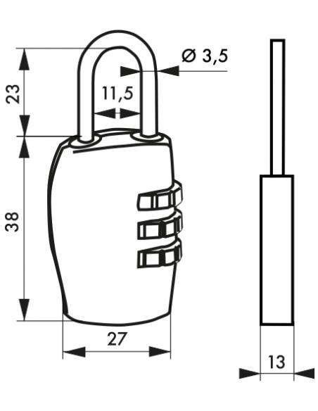 Cadenas BORA BORA 27 mm 3 viroles modif. 00171012