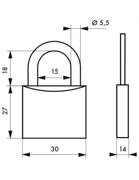 Cadenas Extra Lock 30 mm (Electricom) E 00109625