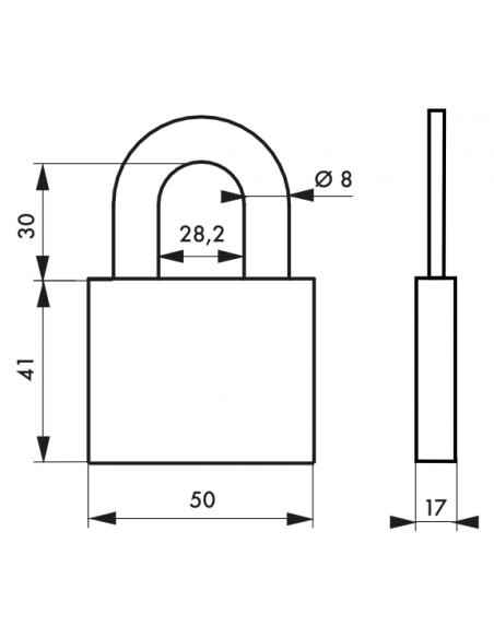 Cadenas Type 1 ALU 50 mm 00128150
