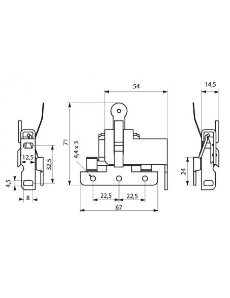 FERME VOLET ROULANT inox (2 pièces) 00900439