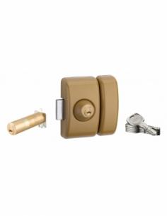 Verrou universel ajustable à languette Transit 2 - double cylindre - bronze 5 clés 00080444