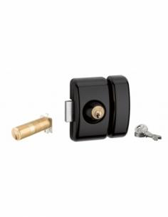 Verrou universel ajustable à languette HG5 - double cylindre - noir 3 clés 00080477