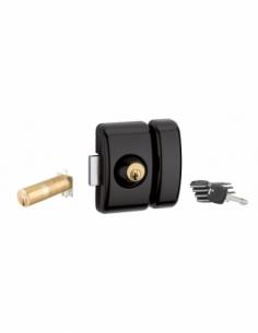Verrou universel ajustable à languette HG5+ - double cylindre - noir 5 clés 00080487