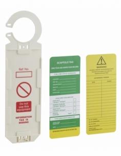 Support tag echaffaudage avec étiquette 92 x 325mm 00091246