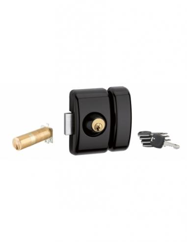 Verrou universel ajustable à languette HG5+ - double cylindre - noir 5 clés 00380487