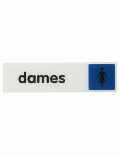 """Plaque signalétique 170x45mm dames"""" avec adhésif"""" 00967152"""
