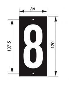 """Plaque signalétique 56x130mm 8"""" à visser"""" 00967178"""