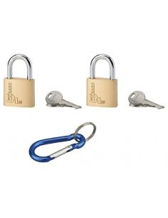 Jeu de 2 Cadenas Type 1 . 30 mm s'entrouvrant 4 clés + Mousqueton 00180239
