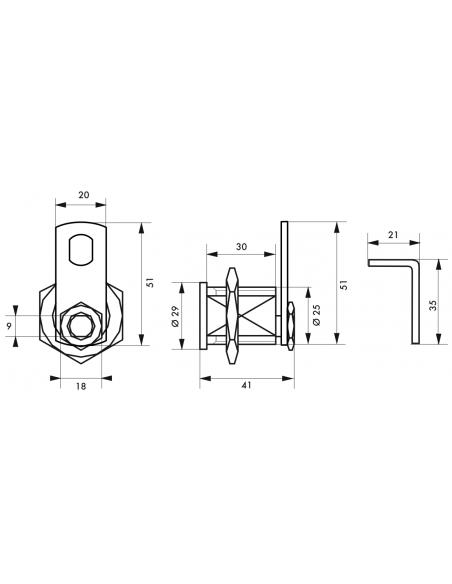 Batteuse tout laiton 5G ép.maxi 23mm 3 clés 00028302