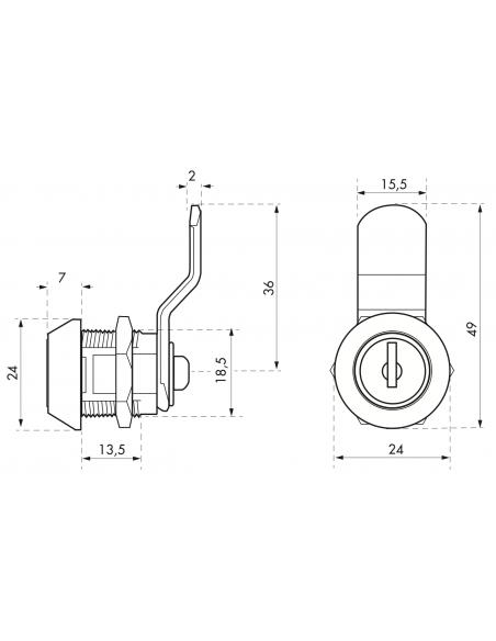 Batteuse 9,7 mm came coudée pour ép.1 à 10 mm maxi 00917935