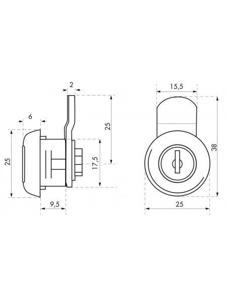 Batteuse 9,7 mm came coudée pour ép.1 à 5,5 mm maxi 00117934