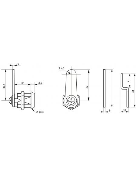 Batteuse avec cames pour ép. maxi 24 mm 00117902