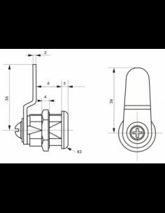 Batteuse avec came pour ép. maxi 6 mm 00117903