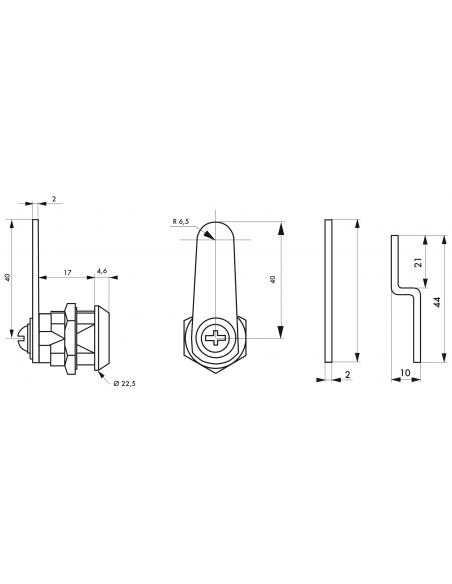 Batteuse avec cames pour ép. maxi 12 mm 00117900
